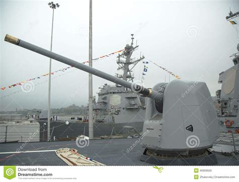 5 inch naval gun turret turret containing a 5 inch gun on the deck of us navy