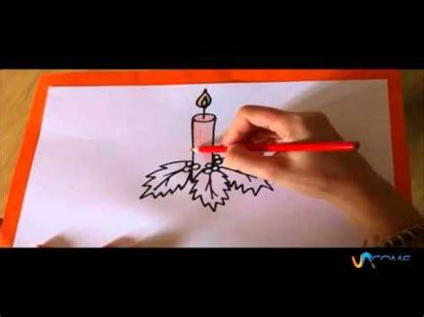 una candela disegnare una candela di natale