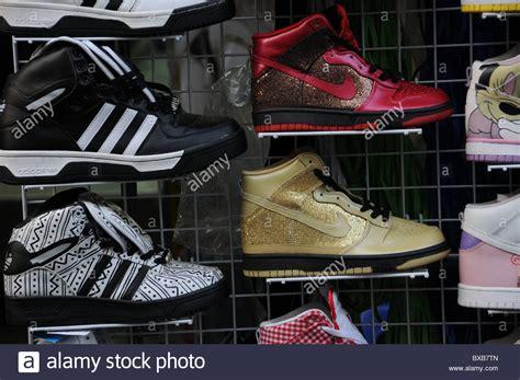 adidas bangkok fake adidas and nike sneakers in bangkok stock photo