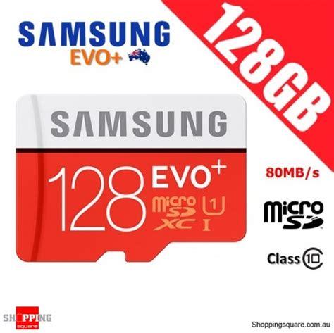 Samsung Memory Card 128gb Microsdxc Evo Plus Class 10 100mb S samsung 128gb evo plus class 10 80mb s micro sd tf memory card shopping shopping