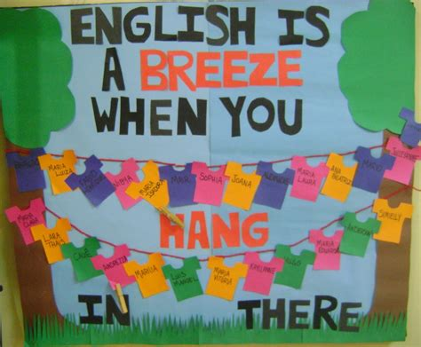 themes for english week helped me make this fun bulletin board for my class at the