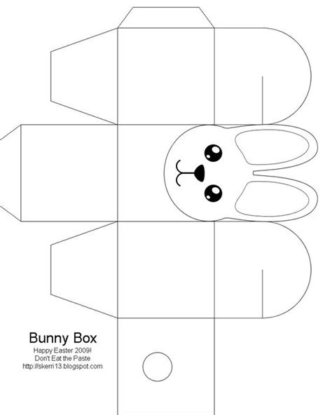 Template Vorlagen Free Easter Box Easter Bunny Easter Crafts For Free Box Templates To Print For Gift Boxes