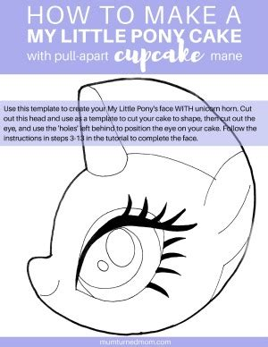 how to make a my little pony cake with pull apart cupcake