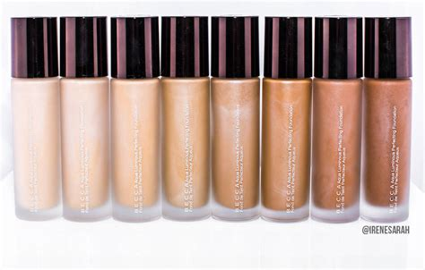 Golden Color Shades by Becca Aqua Luminous Perfecting Foundation Review