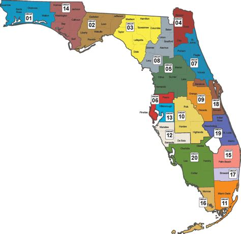 florida circuit court map community supervision facilities circuit map