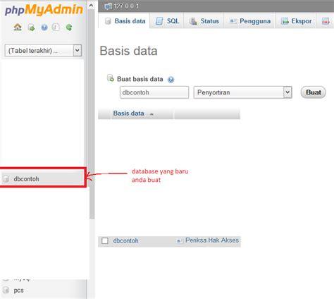 membuat database dengan mysql query browser cara membuat database mysql di phpmyadmin joncode