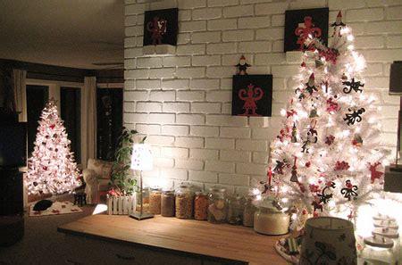 decoracion interiores arboles de navidad blanco