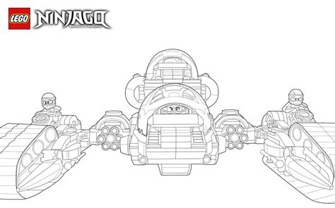 lego ninjago ultra sonic raider coloring pages lego ninjago masters of spinjitzu coloring pages