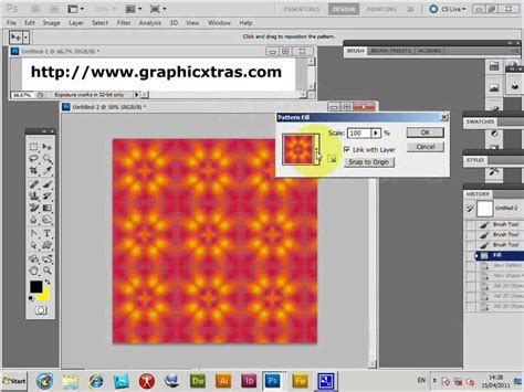 extend pattern in photoshop photoshop patterns 3d cube layer extended tutorial