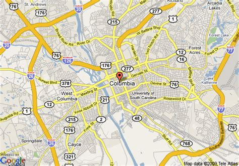 columbia sc map map of columbia center columbia