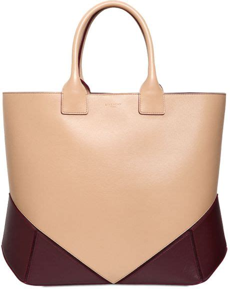 Givenchy Two Tone Purse by Givenchy Easy Two Tone Nappa Leather Tote Bag In Beige
