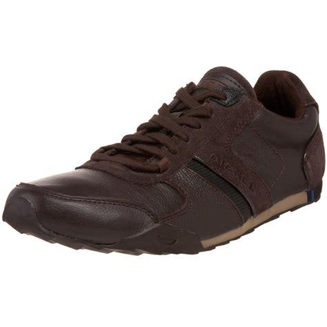 mens diesel sneakers diesel mens loop lace up shoe in brown for coffee