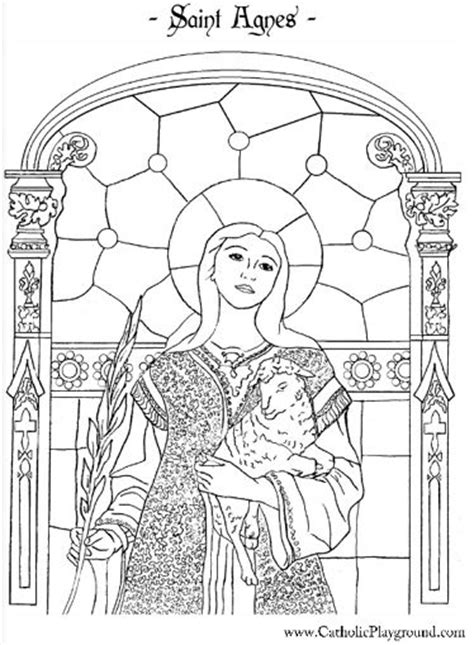 coloring page of catholic saints saint agnes catholic coloring page 1 feast day is january