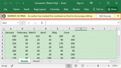 unable  edit excel spreadsheet easy ways  enable
