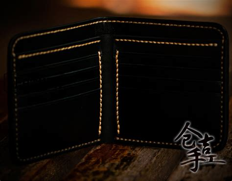 Wallet Leather Handmade - handmade carved wallet black and white warriors