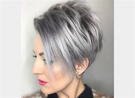 Coupe Femme Cheveux Courts by Coiffure Femme Cheveux Courts Court Et Gris Coupe
