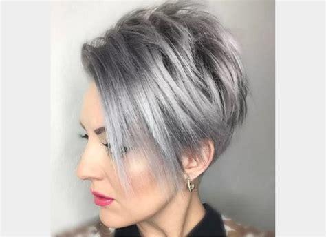 Coiffure Femme Cheveux Court coiffure femme cheveux courts court et gris coupe