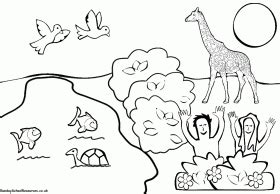 preschool coloring pages of creation creation story coloring pages day worm fun easy kids