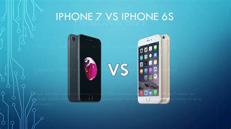 iphone 7 vs 6s difference review comparison and new features