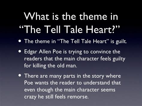 themes in stories we tell tell tale heart