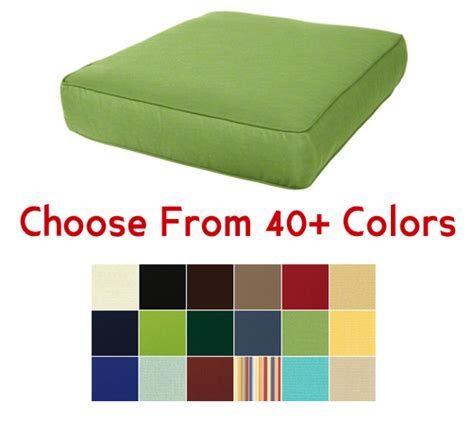 "Deep Seating Chair Cushion 24"" x 27"", CHOOSE YOUR COLOR"
