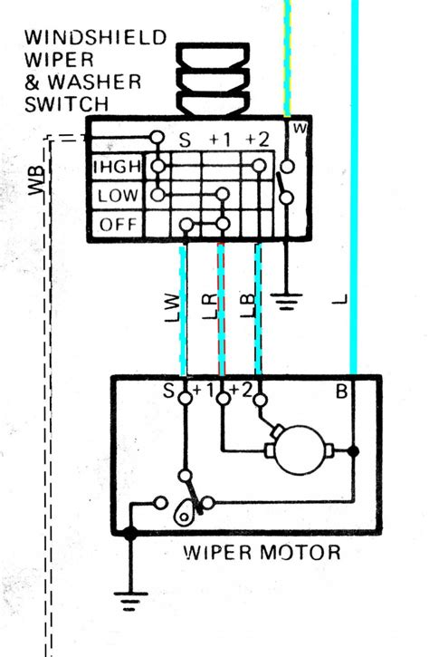 wiper motor wiring diagram wiring diagram and fuse box