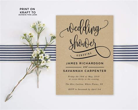 Wedding Shower Invitation Templates Wedding Invitation Bridal Shower Invitation Template Free