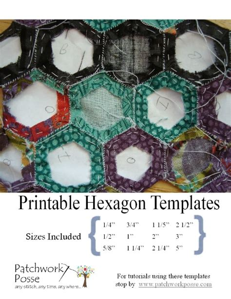 Patchwork Templates To Print - printable hexagon template for quilting pdf