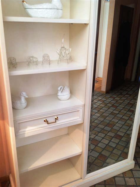 armadio ingresso con specchio armadio per ingresso in legno laccato bianco patinato con