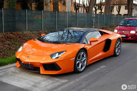 lamborghini aventador s roadster orange lamborghini aventador lp700 4 roadster 2 march 2014 autogespot