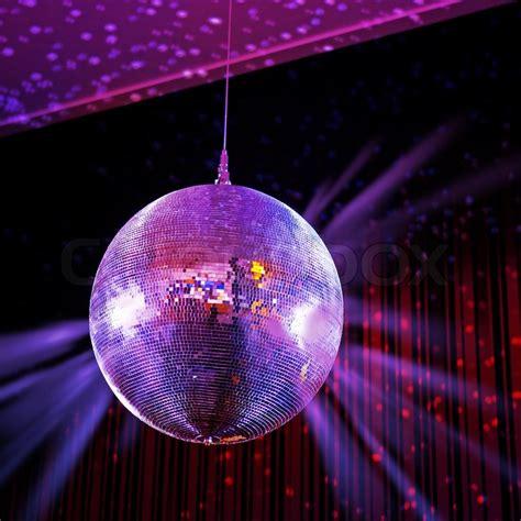led mirror disco ball dance party light fixture party lights disco ball stock photo colourbox