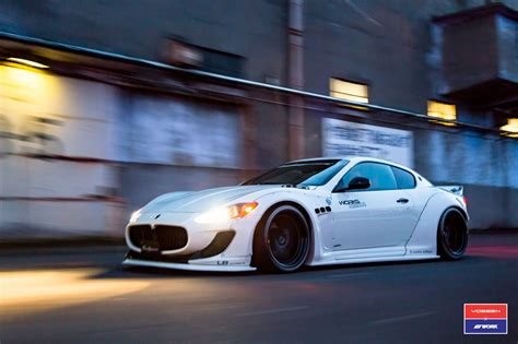 custom maserati granturismo liberty walk maserati granturismo in white gets custom
