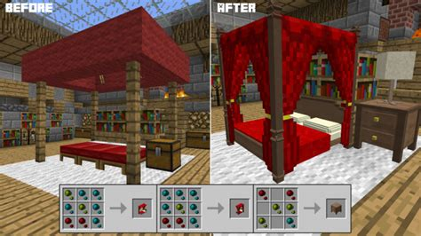 how do you make a bed in minecraft decocraft mod 1 10 2 1 8 9 1 7 10 minecraft mods download