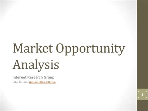 Opportunity For Mba In Marketing by Market Opportunity Analysis