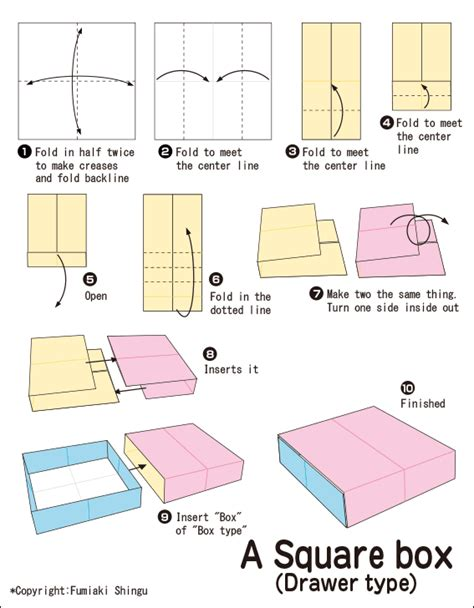 Origami Club Box - diagram