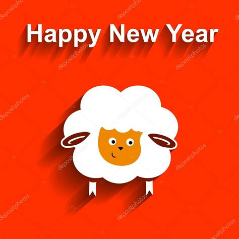 new year of the sheep vector symbol of 2015 sheep vector element for new years design