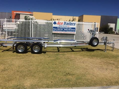 boat trailer tandem axle for sale tandem axle aluminium boat trailer with basic skid set up