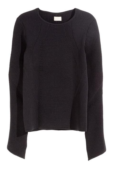 pattern knit sweater h m pattern knit sweater black sale h m us