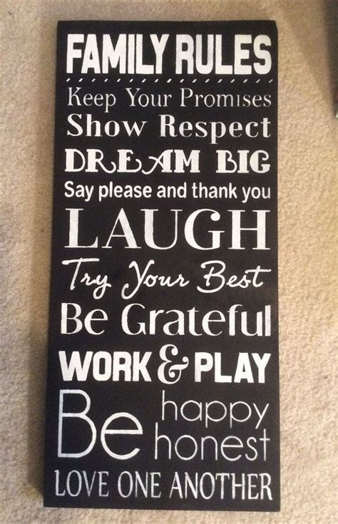 home decor rules family rules sign family rules house rules sign wood