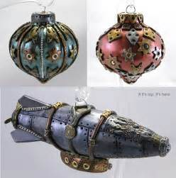 if it s hip it s here archives steampunk christmas ornaments are one of a kind handmade art