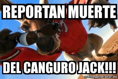 imagenes del canguro jack meme personalizado reportan muerte del canguro jack