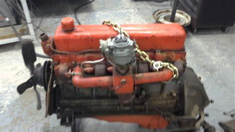 chevrolet 6 cylinder engine running 1957 chevy in line 235 cubic inch 6 cylinder