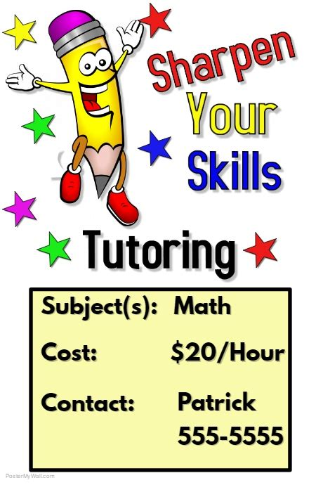 math tutoring flyer template tutoring flyer template postermywall