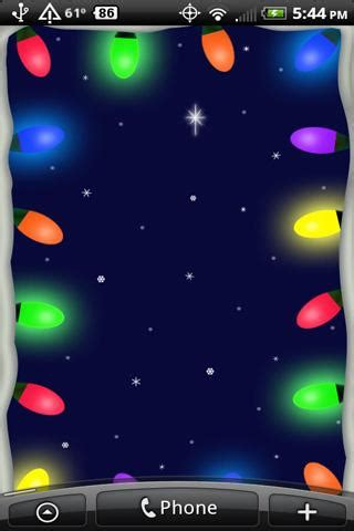 christmas lights livewallpaper for android free download