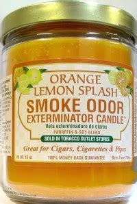 odor exterminator candle orange lemon splash oz