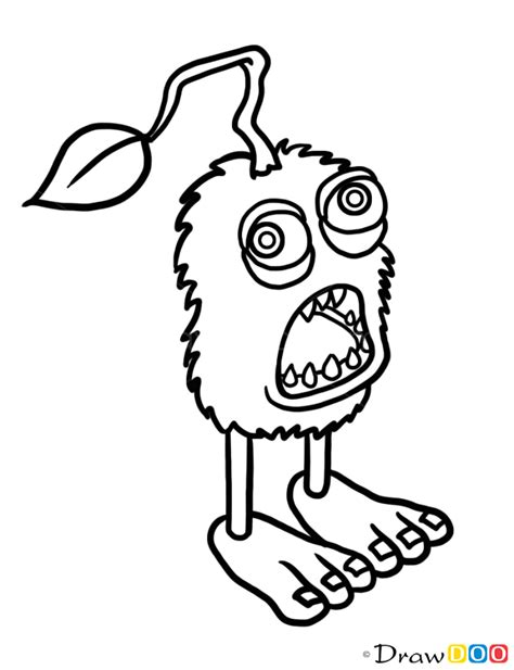 clever design my singing monsters coloring pages artsybarksy