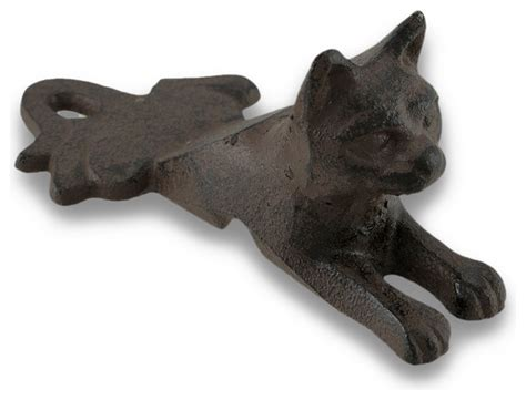 Cat Door Stopper by Rust Finish Cast Iron Cat Door Stop Wedge Rustic Door