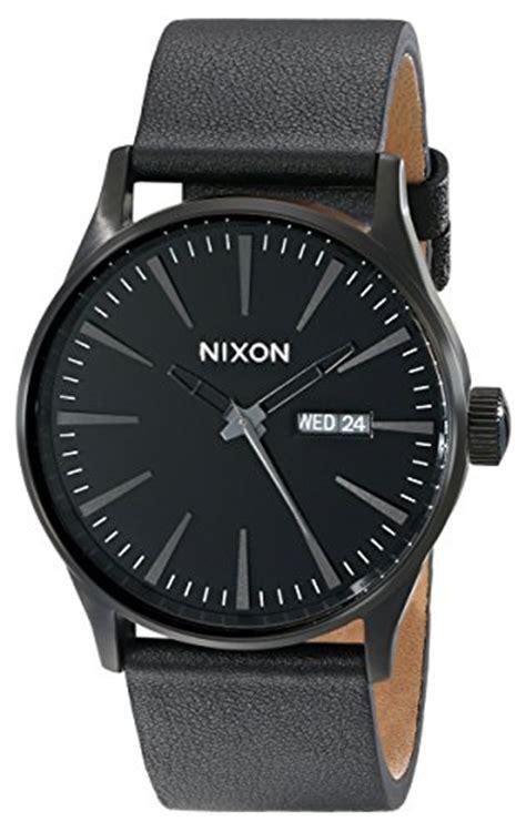 Nixon Mens A1051041 Sentry nixon sentry leather a105001 00 all black s