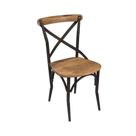 Chaise Bistrot by Cana Chaise Bistrot Industrielle Bois Metal