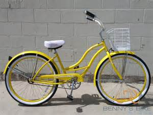 Yellow Bike 26 Inch Yellow Cruiser Model Tahiti With